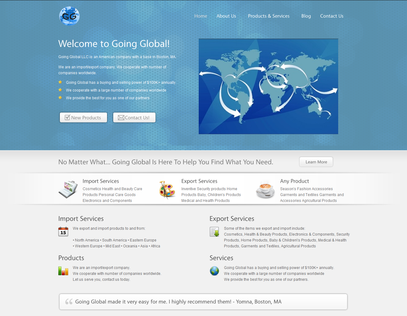 Going Global LLC – Import Export Company