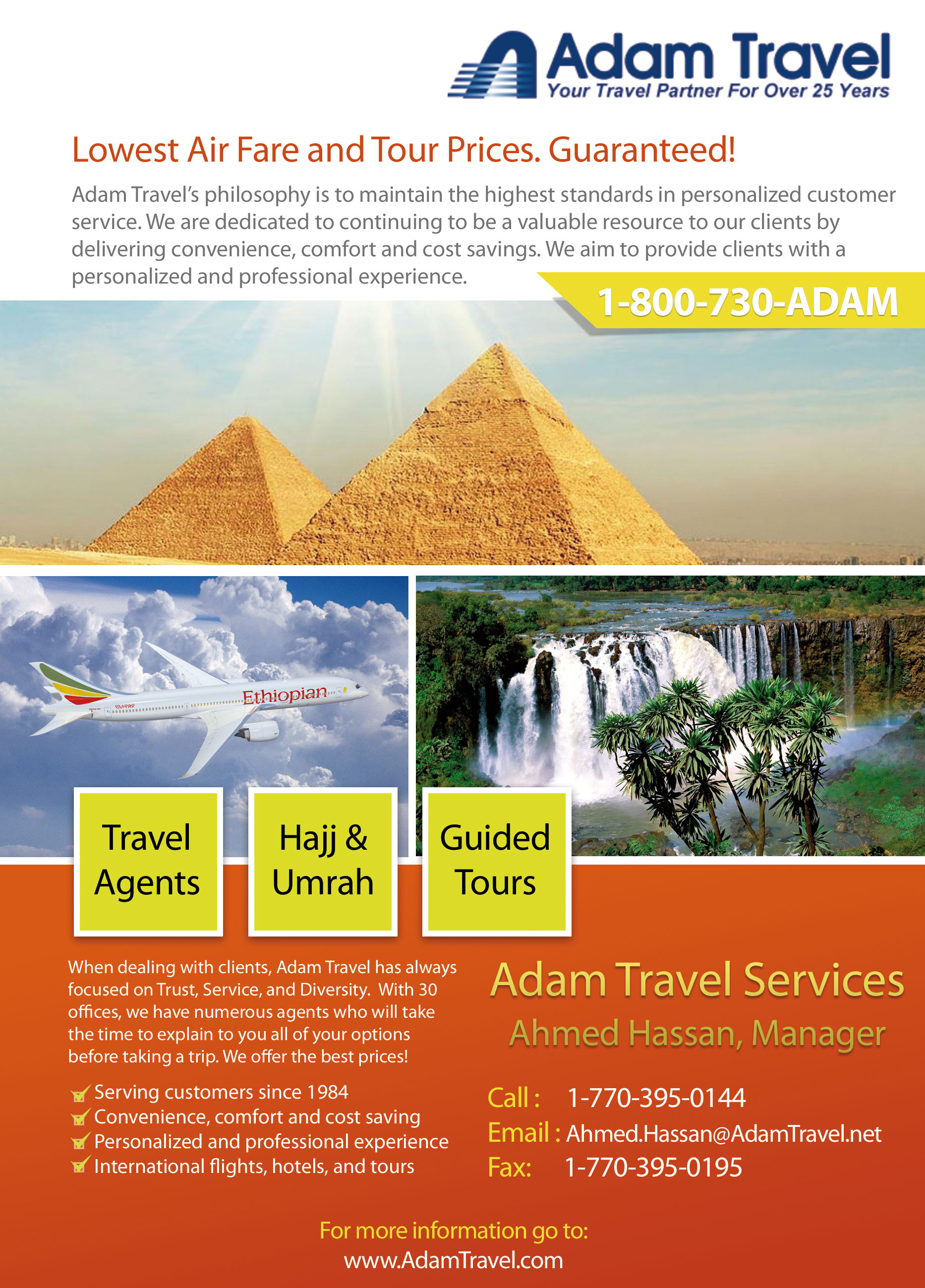 Adam Travel Flyer Design